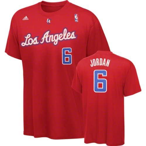 DeAndre Jordan adidas Red Name and Number Los Angeles