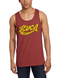 RVCA Men\'s Crola Tank, Red Grease, Large