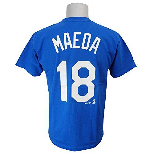 Majestic(マジェスティック) MLB ロサンゼルス・ドジャース 前田健太 プレーヤー Tシャツ (日本サイズ) (ブルー) - M
