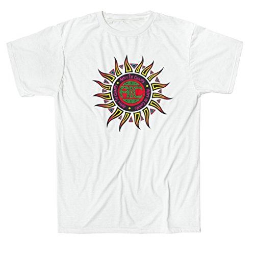 T-shirt Uomo Alice in Chains - Maglietta 100% cotone LaMAGLIERIA,XL, Bianco