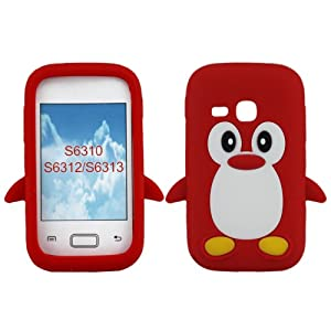 Samsung Galaxy Young S6312 S6310 S6313 (Red): Cell Phones