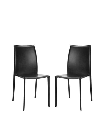 Safavieh Set of 2 Korbin Side Chairs, Black