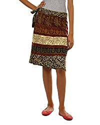 Fashiana Girls|Women's Cotton Wrap Skirt (Fsktf112Ktg _Green _Free Size)