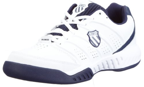 K-Swiss Men's Ultrascendor White/Navy/Silver Tennis Shoe 02827-167-M 9 UK