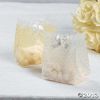 Four Dozen Frosted Gold Vellum Paper Wedding Favor Bags/Wedding Party Supplies/Wedding Gift Wrap
