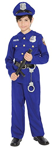 boys - Police Officer Boys Md Halloween Costume - Child Medium