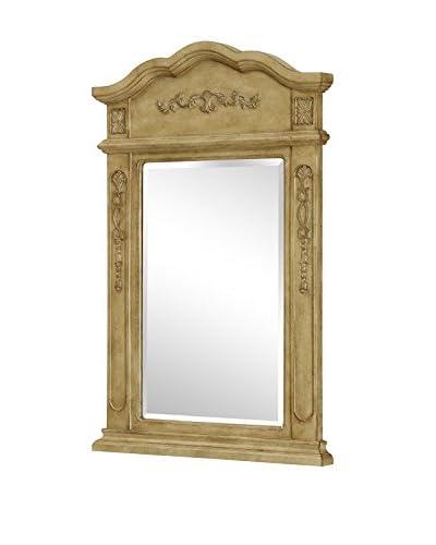 Antique Vanity Mirror, Beige