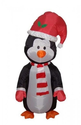 4 Foot Christmas Inflatable Cute Standing Penguin - Yard Blow Up Decoration