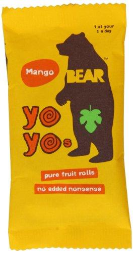 Bear Yoyo 100 Percent Fruit Rolls Mango 20 g (Pack of 18)