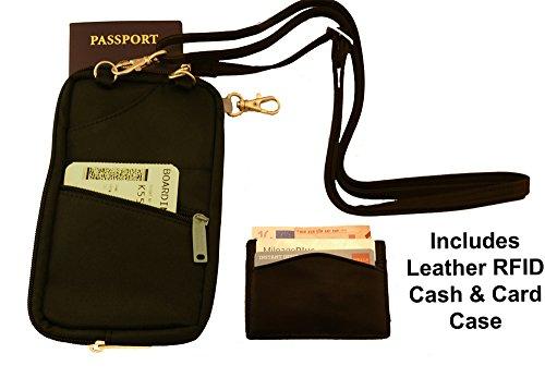 BeSafe RFID Passport Holder & Organizer + Bonus RFID Leather Credit Card Wallet (Plane Tickets T compare prices)