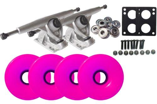 Randal 150 RAW LONGBOARD TRUCKS Package 76mm NEON PINK Wheels Abec 7 коньки onlitop abec 7 223f 33 36 pink 1131913