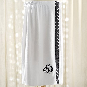 Monogrammed Terry Bath Wrap - Grandin Road