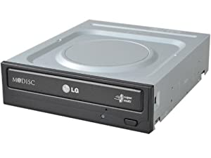 LG Electronics 24X SATA Super-Multi DVD Internal Rewriter with M-Disc Support (Black) GH24NS95B