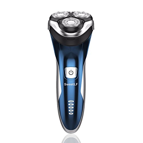 SweetLF Electric Shaver for Men Waterproof IPX7 Wet & Dry Rechargeable Razors with Pop-up Trimmer,Blue (Wet Trimmer Men compare prices)
