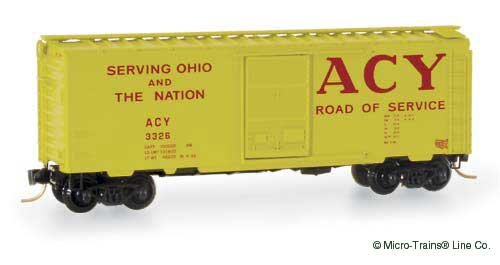 Micro Trains N 20180, 40' Standard Box Car, Single Youngstown Door, Akron, Canton and Youngstown ACY#3326
