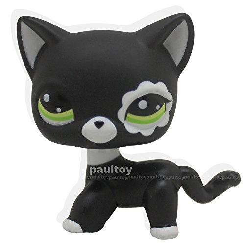 [Littlest Pet Shop RARE Black Short Hair Cat kitty Animal Figure Tpy LPS #2249] (Figure Skating Halloween Costumes)