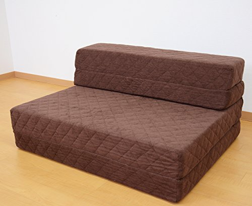 (DORIS) 高反発 バランスマットレス ソファベッド 極厚12㎝ 折りたたみ ソファマットレス シングル 横幅100cm ブラウン