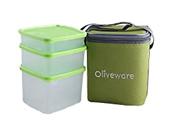 Oliveware New Lunch Bag Set of 3 (LB50 green)