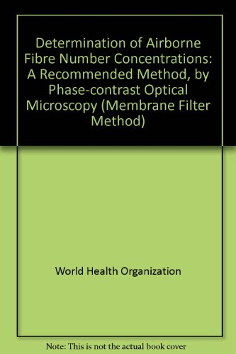 Determination Of Airbone Fibre Number Concentrations: A Recommended Method, By Phase Contrast Optical Microscopy (Membrane Filter Method)