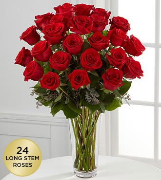 FTD Flowers Red Rose Bouquet-24 Stems – Delivered by a Local Florist