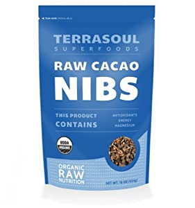 Terrasoul Superfoods Raw Cacao Nibs (Organic), 16-ounce