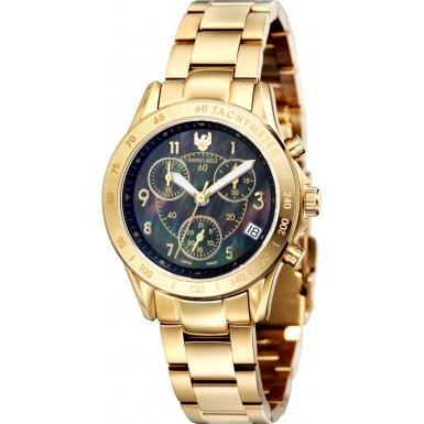 Swiss Eagle Reloj con movimiento cuarzo suizo Talon Dorado 34 mm