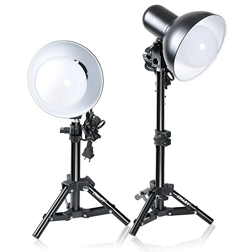 Emart 2 x 15W Table Top Photography Studio LED Lighting Kit with Light Stand Tripod (Led Tabletop Light compare prices)