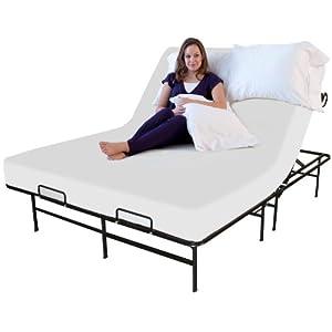 Sleep Master Adjustable Platform Metal Bed Frame/Mattress Foundation, Twin X-Large