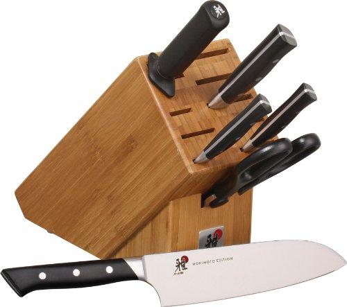 J.A. Henckels MIYABI 600 S Series Motimoto 7 Piece Block Knife Set
