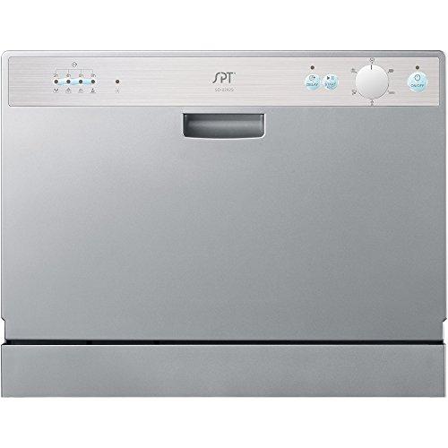 ... Interior, Sunpentown Countertop Dishwasher, Silver [Major Appliances