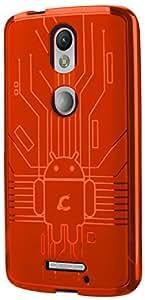 Back Cover for Moto X Force, Cruzerlite USA Bugdroid Circuit TPU Case for Motorola Moto X Force - Orange
