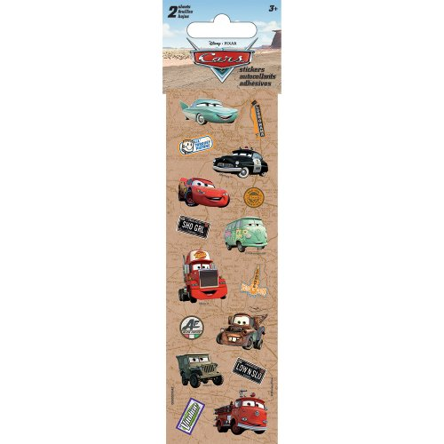 Disney Cars Sticker Sheets - Party Supplies - 2 Per Pack