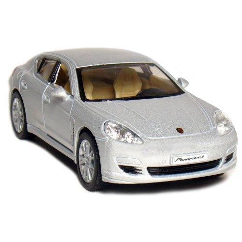 """5"""" Porsche Panamera S 1:40 Scale (Silver) - 1"""
