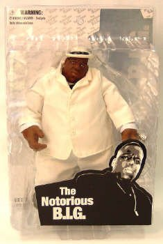Mezco Toyz Rap Stars Action Figure Notorious Big (Biggie Smalls) In White Suit