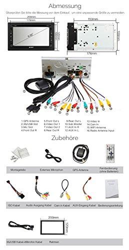 PUMPKIN-695-Android-51-Autoradio-DVD-Player-GPS-Navigation-Untersttzt-DAB-Bluetooth-OBD2-Wifi-Dashcam-2-Din-Universal