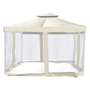 Ivory canopy substitution with screen netting - Screen netting for gazebo ...