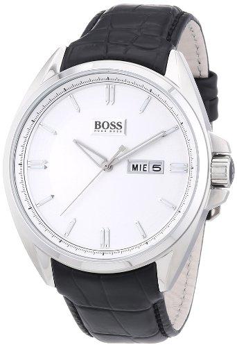Hugo Boss 1512875 - Orologio da polso uomo, pelle, colore: nero