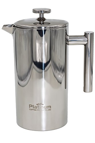 Platinum French Press Coffee Stainless Steel Double Wall