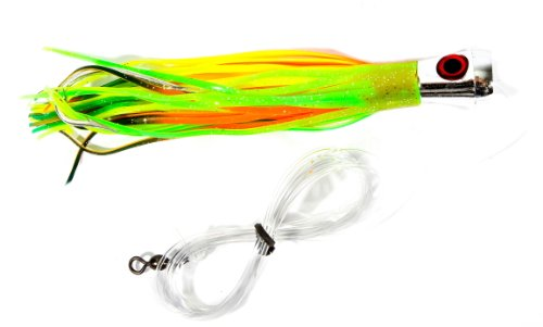 Boone hoo lili rigged lure chartreuse multi 7 inch for Chartreuse fishing lures