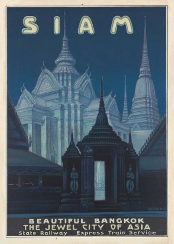 Vintage Travel THAILAND (SIAM) 250gsm Gloss ART CARD A3 Reproduction Poster