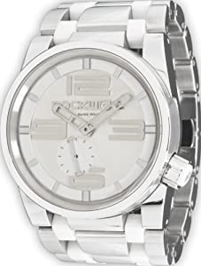 Rockwell Men's FF101 50mm Stainless Steel Silver and White Watch