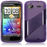 Terrapin HTC Sensation TPU Gel Case By - Twill Purple