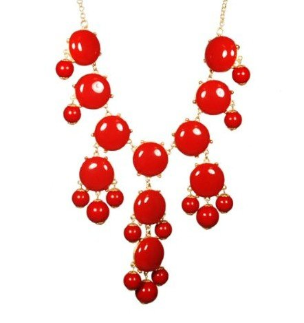 WIIPU red big Bubble Necklace,Statement Necklace, Bubble Jewelry