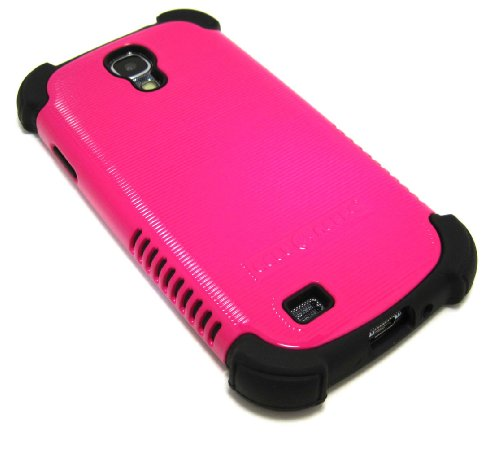 Cell-Nerds Nerdshield Grip Case Cover For The Samsung Galaxy S4 - Cell-Nerds Packaging (Pink On Black)