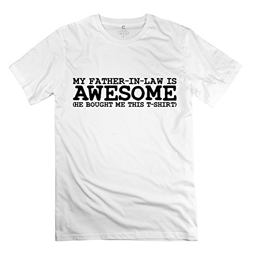 White Awesome 100% Cotton Tee Shirts For Guys Size Xl