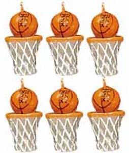 Wilton Candle Set - Basketballs - 1