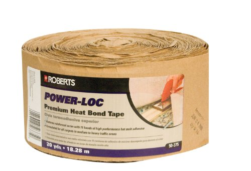 QEP 50-375 Power-Loc Premium Heat Bond Carpet Seaming Tape, 20 Yard Roll