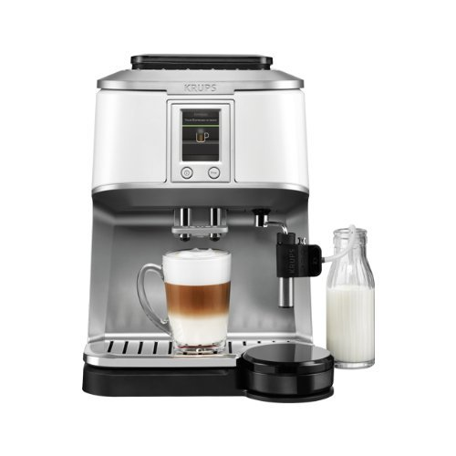 KRUPS EA8441 Kaffeevollautomat (1,7 l, 15 bar, Super-Cappuccino-System) weiß thumbnail