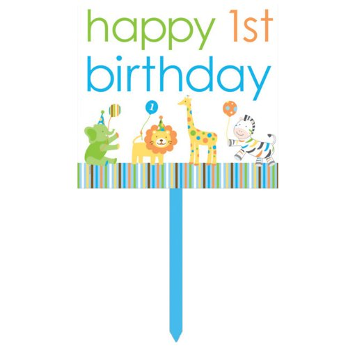 Creative Converting Sweet at One Boys Happy 1st Birthday Yard Sign