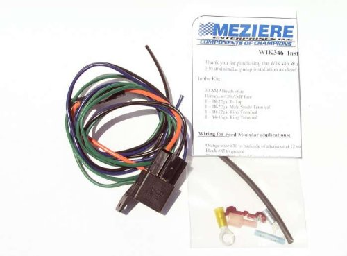 Meziere Wik346 Water Pump Relay Kit 30 Amp With Wiring Harness